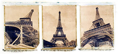 Eiffel Tower Poster by Tony Cordoza