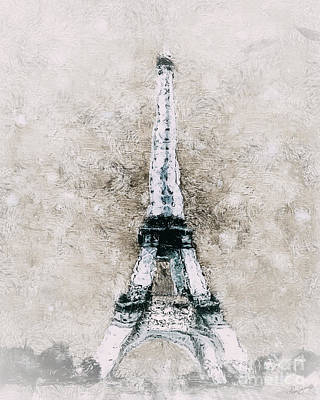 Eiffel Tower Wall Art Poster by Shanina Conway