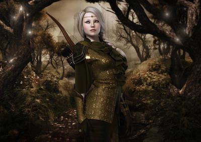 Eiya The Huntress Poster by Rachel Dudley