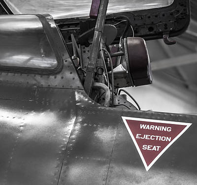 Ejection Seat Warning Poster by Steven Milner