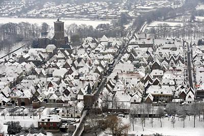 Elburg In Winter, Gelderland Poster by Bram van de Biezen