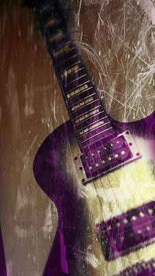 Electric Guitar - In The Studio Poster by Brian Howard