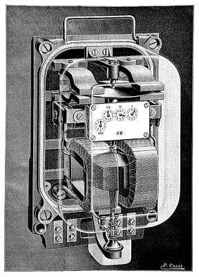 Electricity Meter Poster by Science Photo Library
