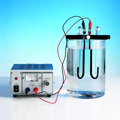 Electrolysis Of Water Poster by Science Photo Library