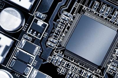 Electronic Circuit Poster by Wladimir Bulgar