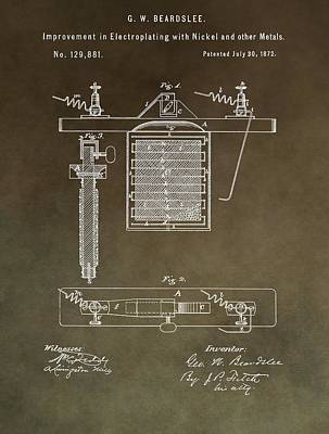 Electroplating Procedure Patent Poster by Dan Sproul