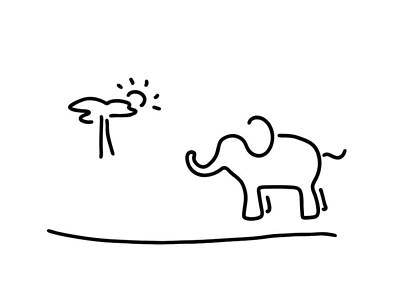 elephant Africa savanna Poster by Lineamentum