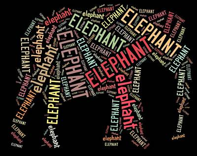 Elephant Wall Art Poster by Linda Brown