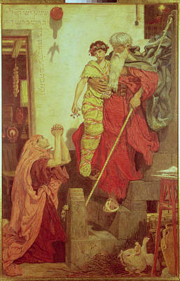 Elijah Restoring The Widows Son, 1868 Poster by Ford Madox Brown