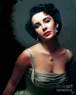 Elizabeth Taylor Poster by Paul Tagliamonte