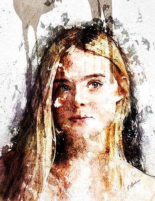 Elle Fanning Poster by Gary Bodnar
