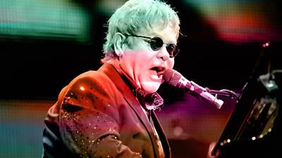 Elton John Poster by Marvin Blaine
