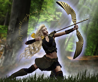 Elven Archer Poster by Suzanne Amberson