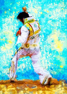 Elvis Live Poster by Bob Orsillo