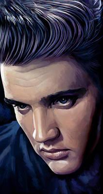 Elvis Presley Artwork 2 Poster by Sheraz A