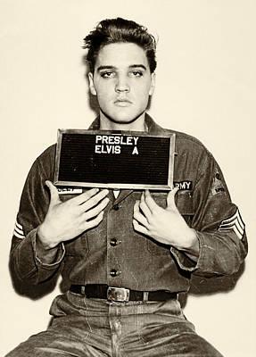 Elvis Presley - Mugshot Poster by Digital Reproductions
