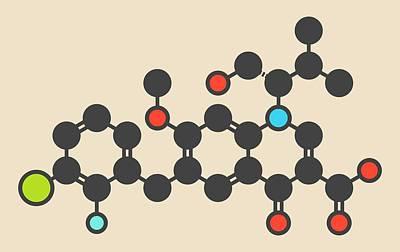 Elvitegravir Hiv Treatment Drug Molecule Poster by Molekuul