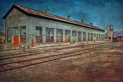Ely Nevada Trainstation Poster by Gunter Nezhoda