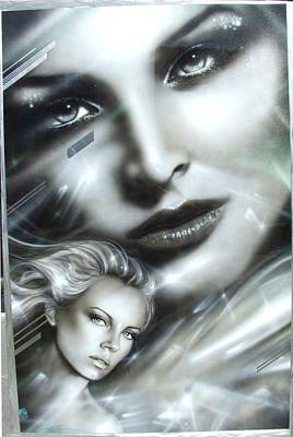 Charlize Theron - ' Emerald ' Poster by Christian Chapman Art