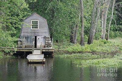 Emerson Boathouse Concord Massachusetts Poster by Amy Porter