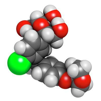 Empagliflozin Diabetes Drug Molecule Poster by Molekuul