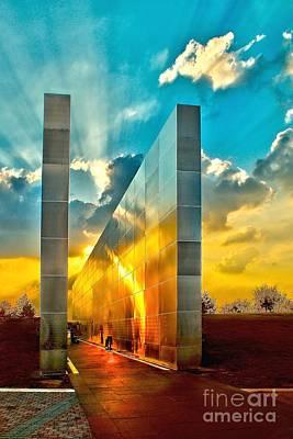 Empty Skies Sunset Poster by Nick Zelinsky
