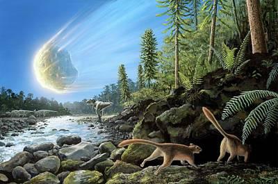 End Of Cretaceous Kt Event Poster by Richard Bizley