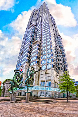 Endless Towers - Atlanta Suntrust Plaza Poster by Mark E Tisdale