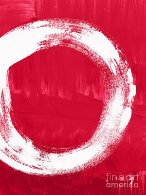 Enso Poster featuring the painting Energy by Linda Woods