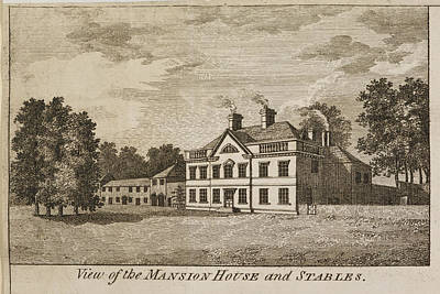 English Mansion House And Stables Poster by British Library