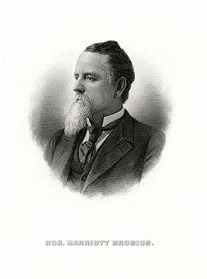 Engraved Portrait Of Rep Marriott H Brosius Poster by Celestial Images