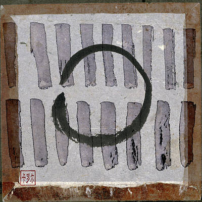 Enso Circle On Japanese Papers Poster by Carol Leigh