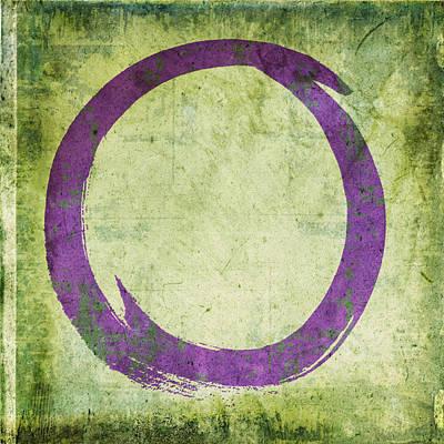 Enso No. 108 Purple On Green Poster by Julie Niemela