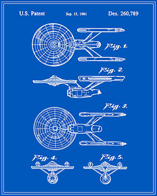 Enterprise Toy Figure Patent - Blueprint Poster by Finlay McNevin