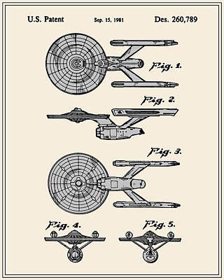 Enterprise Toy Figure Patent - Colour Poster by Finlay McNevin