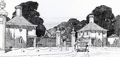 Entrance To Brooklandwood Poster by Thomas Hayton Mawson