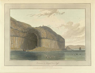 Entrance To Fingal's Cave Poster by British Library