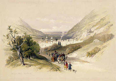 Entrance To Nablous, April 17th 1839 Poster by David Roberts