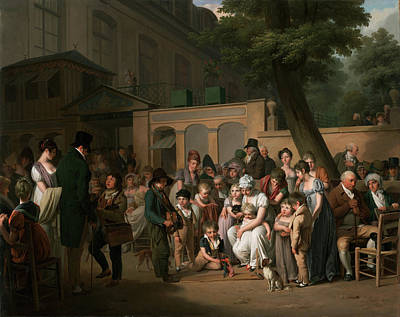 Entrance To The Jardin Turc Poster by Louis Leopold Boilly