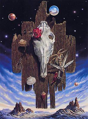Equinoctial Rose Poster by Ricardo Chavez-Mendez