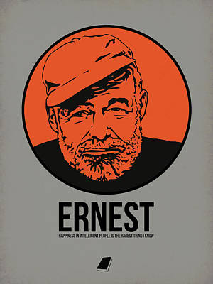 Author Poster featuring the digital art Ernest Poster 1 by Naxart Studio