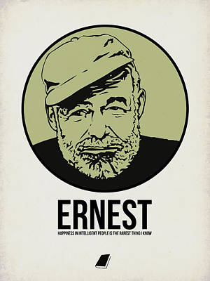 Author Poster featuring the digital art Ernest Poster 2 by Naxart Studio