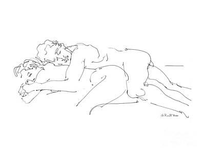 Erotic Art Drawings 2 Poster by Gordon Punt