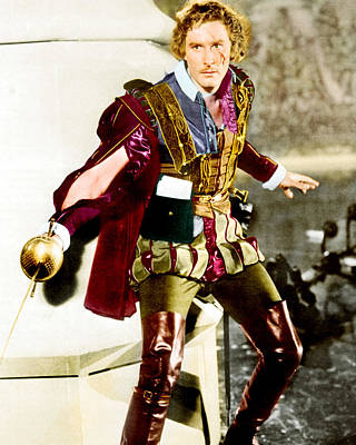 Errol Flynn In Captain Blood  Poster by Silver Screen