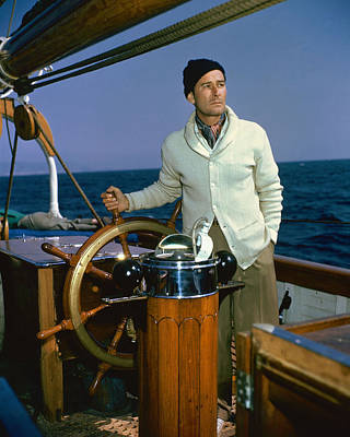 Errol Flynn In Cruise Of The Zaca  Poster by Silver Screen