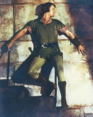 Errol Flynn In The Adventures Of Robin Hood Poster by Silver Screen