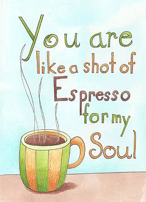 Espresso Art Poster by Christy Beckwith