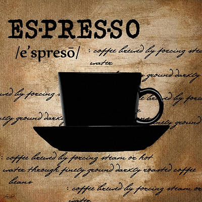 Espresso Madness Poster by Lourry Legarde