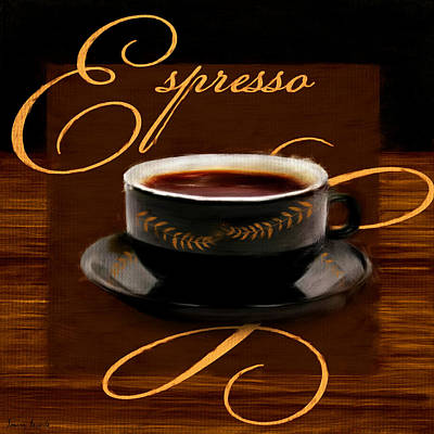 Espresso Passion Poster by Lourry Legarde