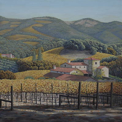 Estate Vineyards Poster by James English Babcock